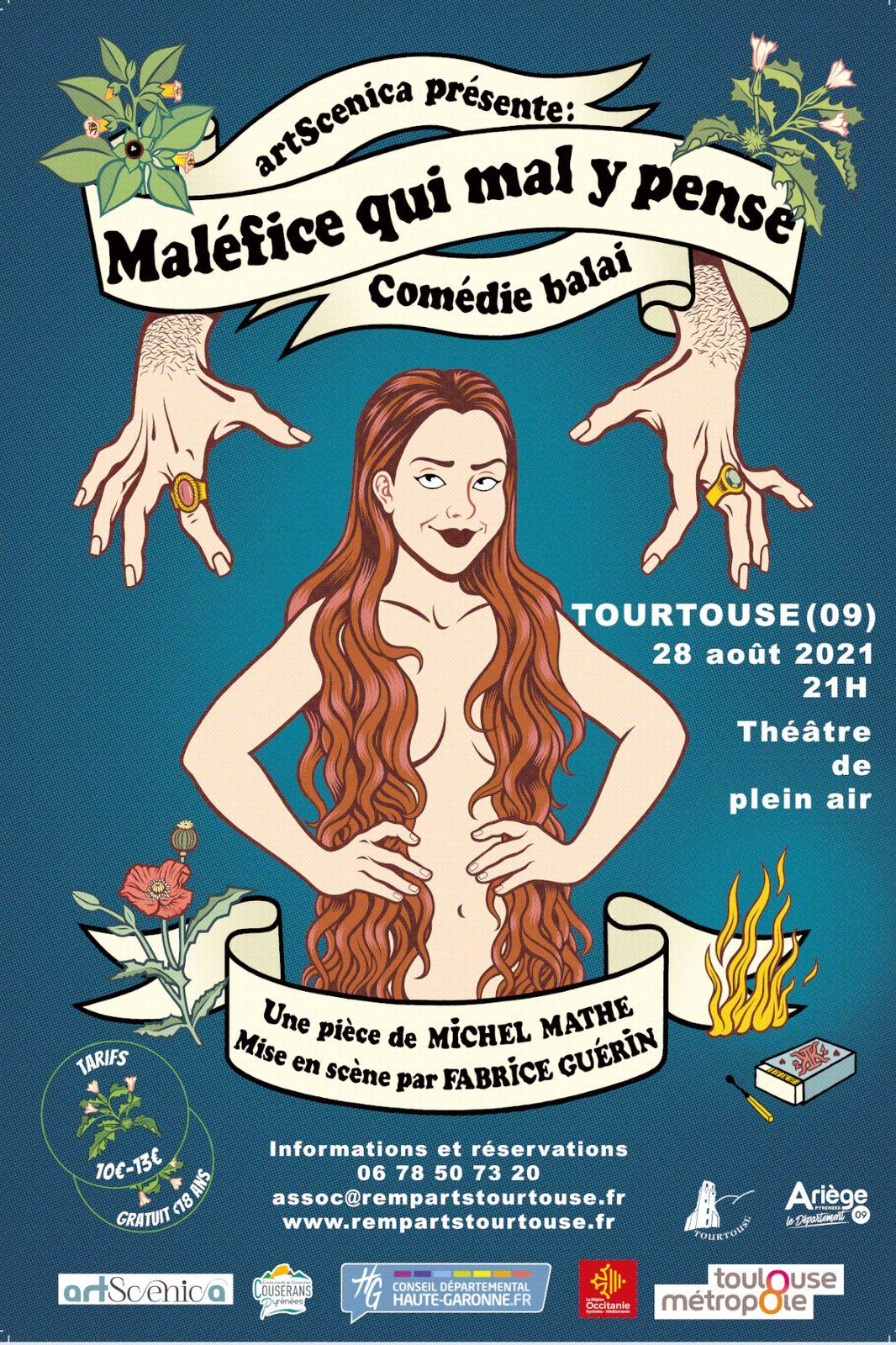 Tourtouse (Ariège) - samedi 28 août à 21 heures sur le théâtre de plein air