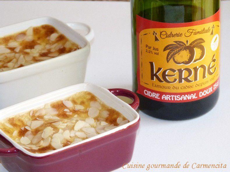 Gratin de poires crème sabayon au cidre doux