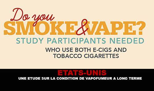 ÉTATS-UNIS : Une étude sur la condition de vapofumeur a long terme