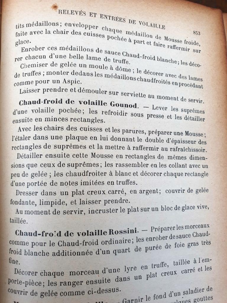 Le Guide Culinaire d'Auguste Escoffier, 1907 - 90 euros