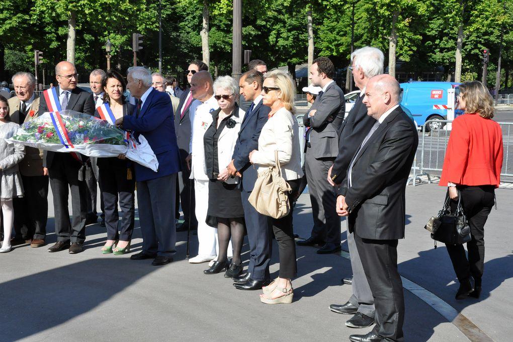 Dépôt de gerbe de l'UGF en compagnie de Delphine Bûrkli, maire du 9ème ardt de Paris et Alexis Goviyan, premier adjoint.