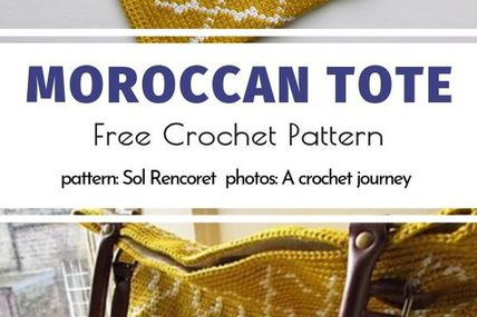 Moroccan Tote Free Crochet Pattern