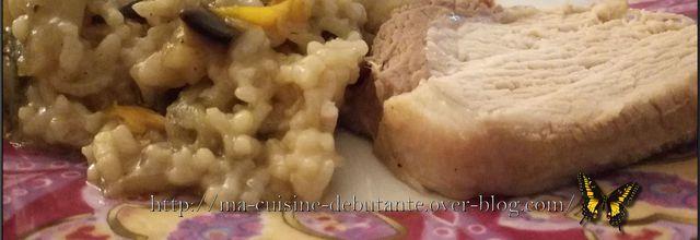 Rôti de porc et ses légumes fondants