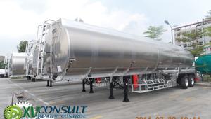 1/ألومنيوم نصف المقطورة شاحنة وقود الصين saso 45000