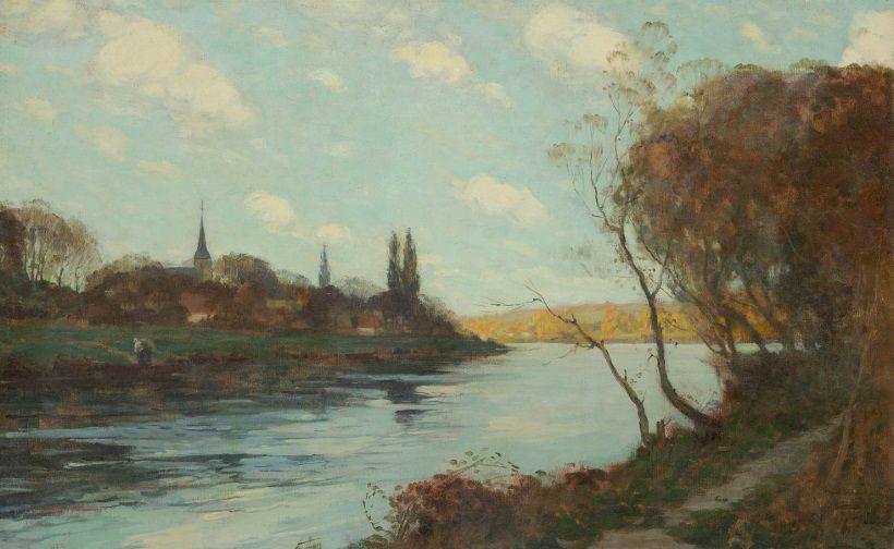 Clarence Gagnon, artiste québécois, et Pont-de-l'Arche, Les Damps et Criquebeuf-sur-Seine, en France.