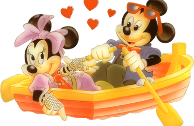 Mickey - Minnie - Amour - Barque - Rende-Tube - Gratuit