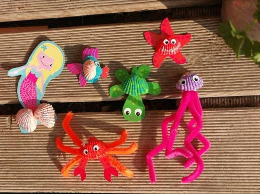 Créer des figurines en coquillages