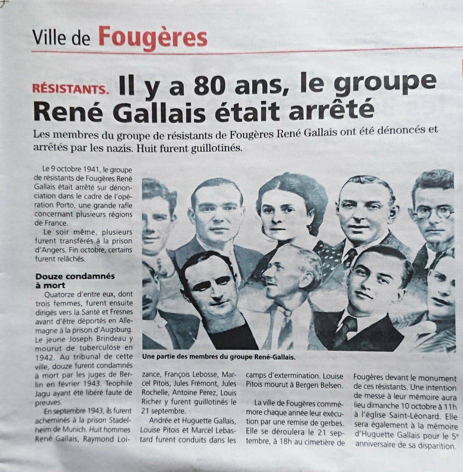Les Résistants du groupe René Gallais