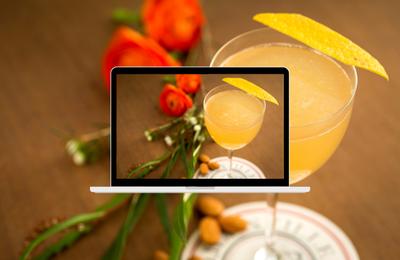 Supplément d'âme, un cocktail floral au Cognac pour fêter le printemps