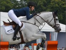 Global Champions Tour of Chantilly 2013 : cheval blanc