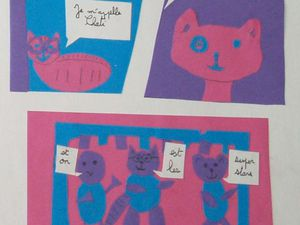 Enfants - Strip de BD en collage