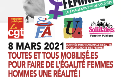 8 mars 2021 : toutes et tous mobilisé.es pour faire de l'égalité Femmes Hommes une réalité !
