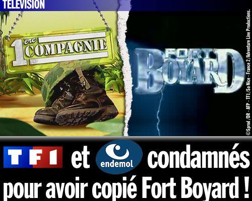 TF1 et Endemol condamnés pour avoir copié Fort Boyard !