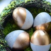DIY :: Cement Easter Eggs - Camille Styles