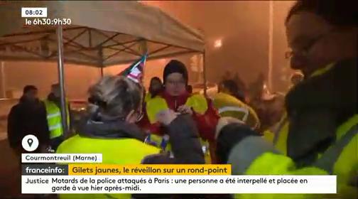 Gilets jaunes : Toujours mobilisés, voici comment ils ont passé leur réveillon partout en France