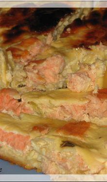 Quiche au saumon et poireaux