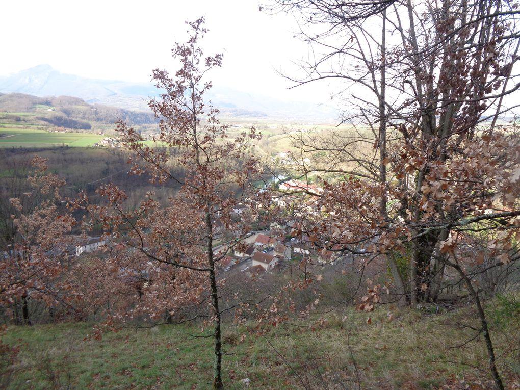 """Ma randonnée du mercredi 4 mars : """"Les 3 châteaux""""  au départ de Pont en Royans (38)"""