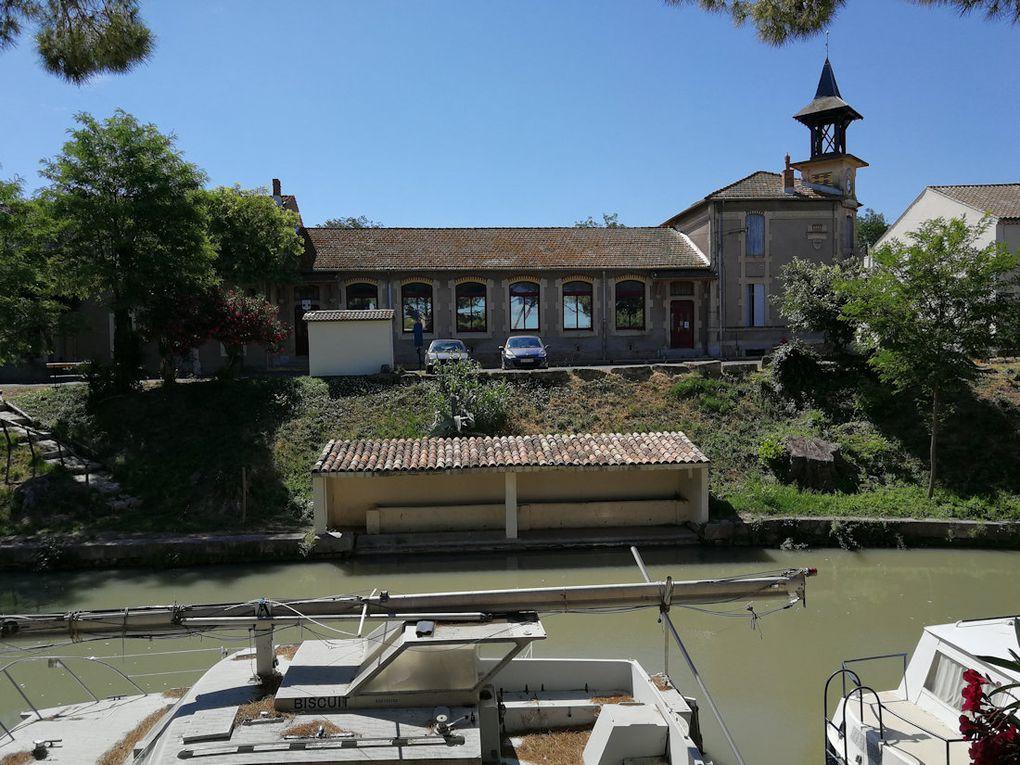 Quelques points de vue sur ce petit village de presque 600 habitants, sur le Canal du Midi.