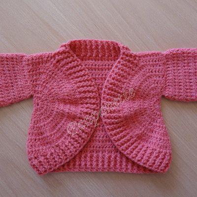 Gilet bébé au crochet