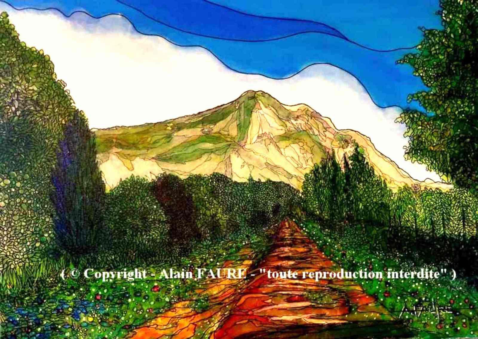 EMOTION SAINTE VICTOIRE Peinture Acrylique sur Toile : 70 x 50 cm.....1100 € Quel que soit  le côté par lequel on l'aborde, elle étonne toujours par sa structure et ses couleurs. Belle dame au cœur de la Provence, elle s'étend sur 18 km de long et 5 de large et ses nombreux paysages enchantent les randonneurs. Dévastée par un gigantesque incendie en 1989 qui détruisit près de 5500 ha, elle est depuis protégée par une association ainsi qu'un syndicat mixte créé en 2000.