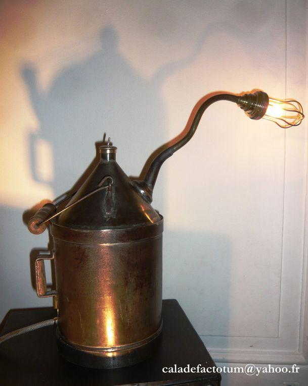 Lampe Vintage Industrielle Ancien Bidon à Pétrole - 75 euros