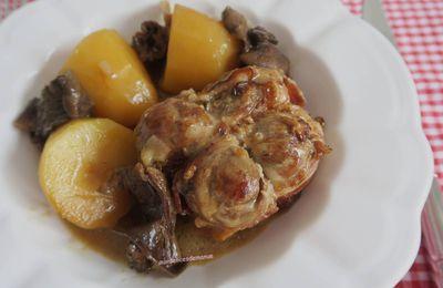 Cuisses de poulet farcies aux cèpes, pommes de terre aux champignons forestiers au Cookéo ou pas
