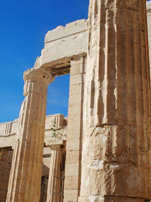 vues des monuments de l'Acropole ...