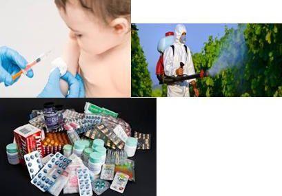 Il existe un lien entre les pesticides, les médicaments, les vaccins.