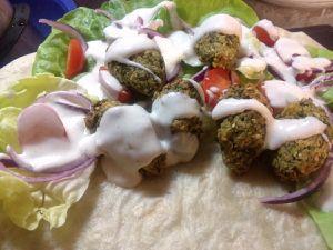 Pitas de falafels