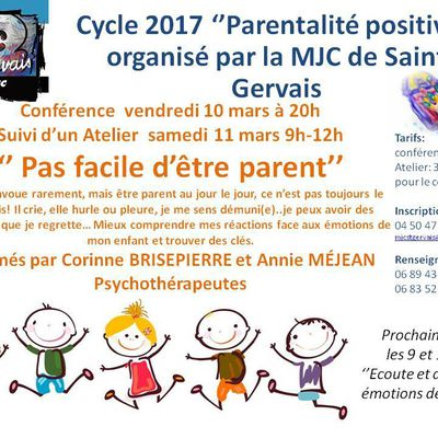 ATELIER-CONFERENCE - MARS 2017- PARENTALITE...