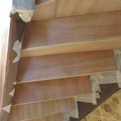 Habillage sous escalier