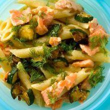 Salade de pâtes aux courgettes et au saumon facile : découvrez les recettes de Cuisine Actuelle