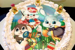 Gâteau au framboises de Pâques et changement de lien du blog