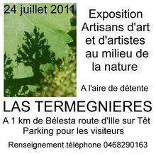 """Présentation de l'exposition """"l'art dans la nature le 24 juillet 2011"""""""