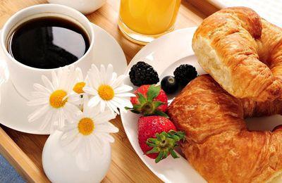 Café - Croissants - Pain - Petit déjeuner - Nourriture - Wallpapers - Free