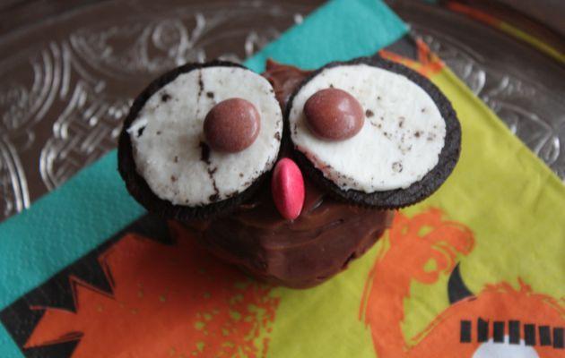 Halloween #2 - Cupcake Hibou