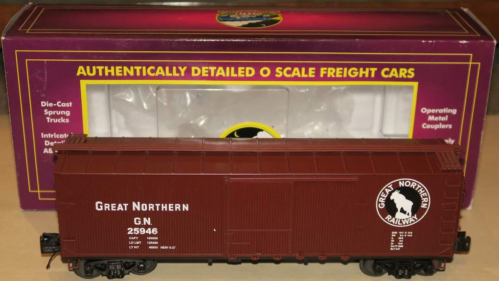 Wagon 40' USRA Double Sheathed Box Car 3 rails échelle O MTH