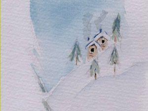 On ne l'arrête plus notre artiste ! Bravo Céline pour ces trois aquarelles ! Le buffle d'eau, le pêcheur et temps d'hiver.