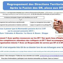 Communication CFE-CGC Métiers de l'emploi Normandie : Réorganisation des DT