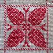 SAL : Plaid Broderie Rouge... Grille 27 H/2 - Chez Mamigoz