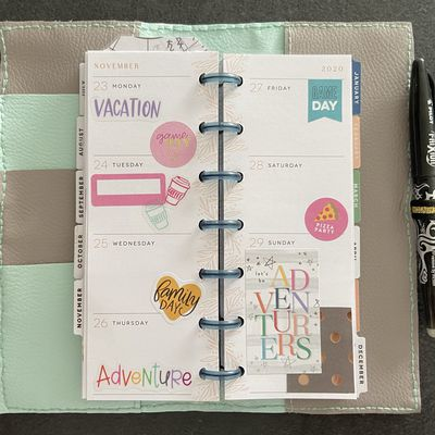 Plan with Me: Mini Skinny happy planner_ Semaine 48