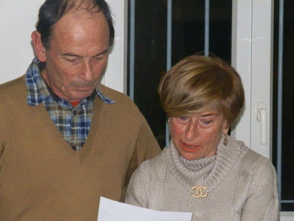 La soirée s'est déroulée de la réunion d'informations après les adhésions jusqu'au tour de table des lecteurs en passant par le lancement concours interne pour finir par l'élection à la fève littéraire.