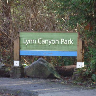 Über die Hängebrücke im Lynn Canyon Park