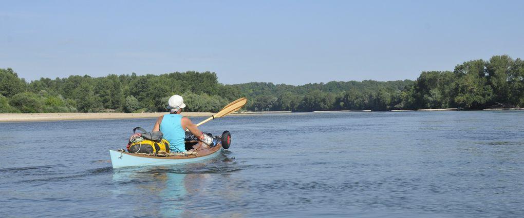 Léodos et Léonidas, 2 kayaks Léo sur la Loire de Pouilly sous Charlieu à Gien, du 1er au 11 août