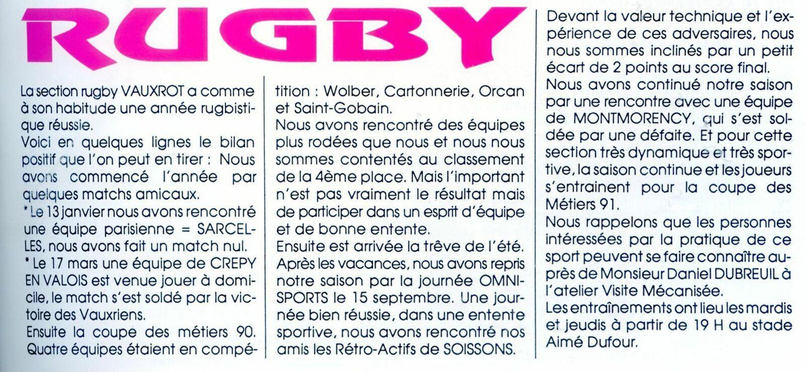 Album - groupe Saint-Gobain, la verrerie de Vauxrot (Aisne), les activités du comité d'établissement
