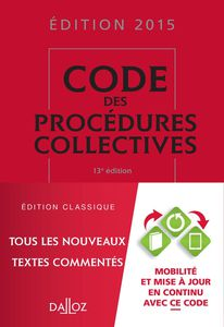 Procédures d'appel et procédures collectives