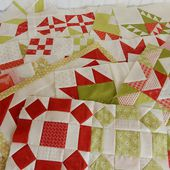 A Quilting Life - a quilt blog: Red and Green Quilt Blocks