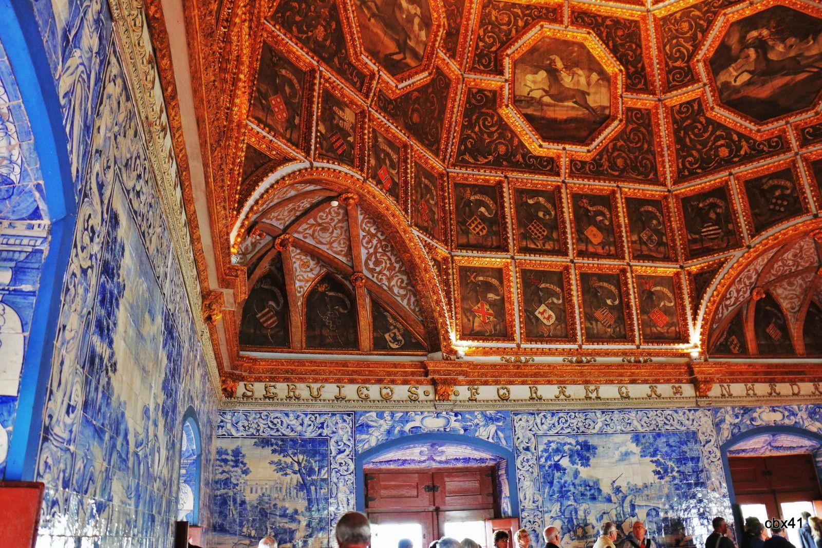 Azulejos de la salle des blasons, Palais National de Sintra (Portugal)
