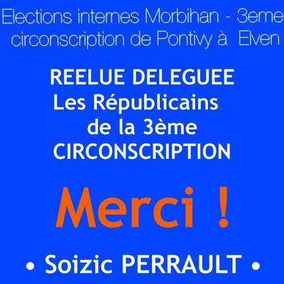 Réélue Déléguée Les Républicains de la 3ème circonscription du Morbihan