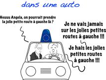 Merkel et Hollande sont dans une auto